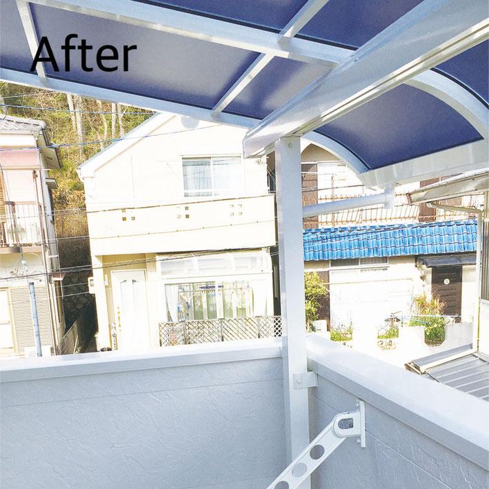 神戸市北区 テラス屋根設置 After マスタードリフォーム