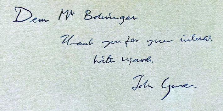 Autograph John Gurdon Autogramm