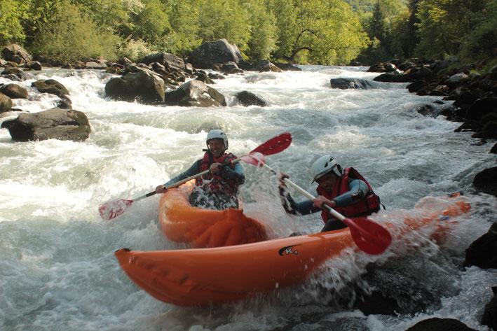 kayak-raft en Savoie avec  Rêve d'eau
