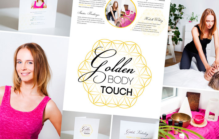 Grafikdesign Fotografie Logo GoldenBodyTouch