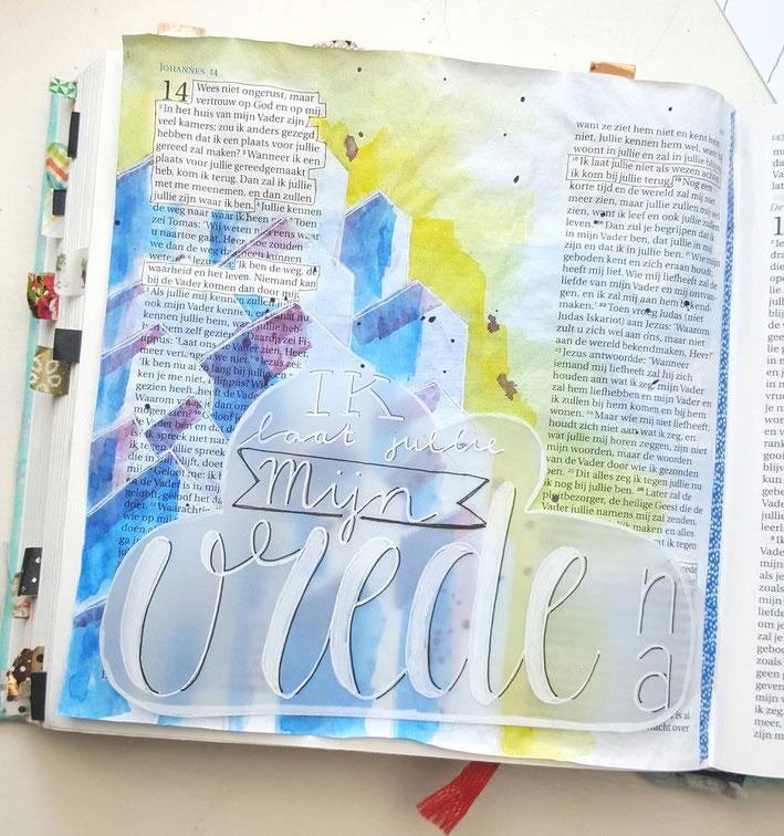 Voorbeeld biblejournaling Johannes 14