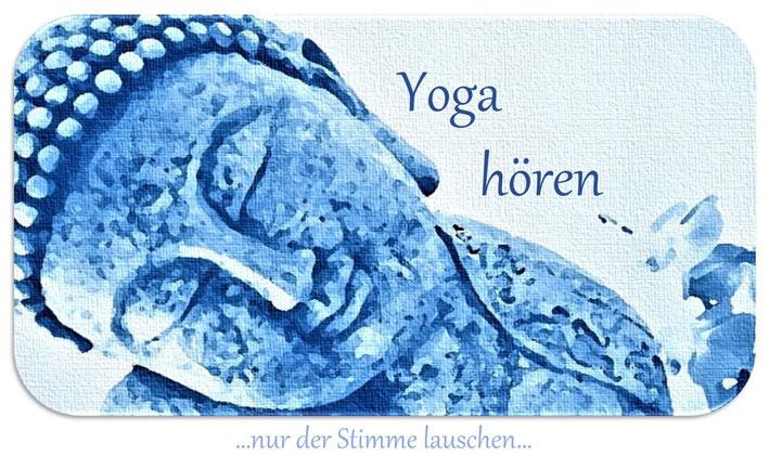 Yoga hören Heidelberg - lasse dich nur von der Stimme leiten Yoga Nidra Yin Yoga Yoga für den Rücken Yogastudio Heidelberg Eva Metz