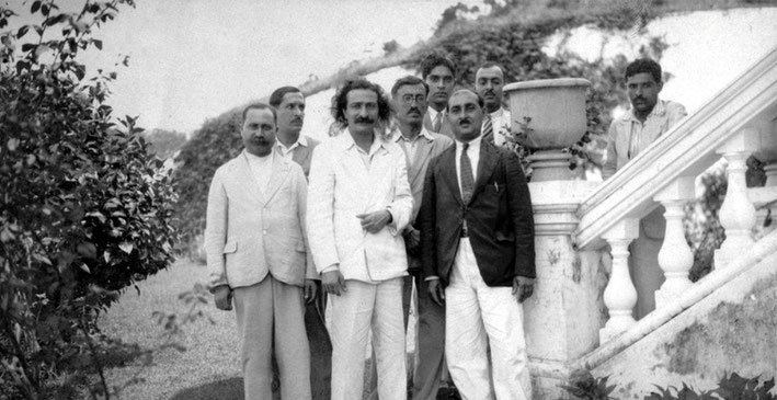 Meher Baba & His men in China