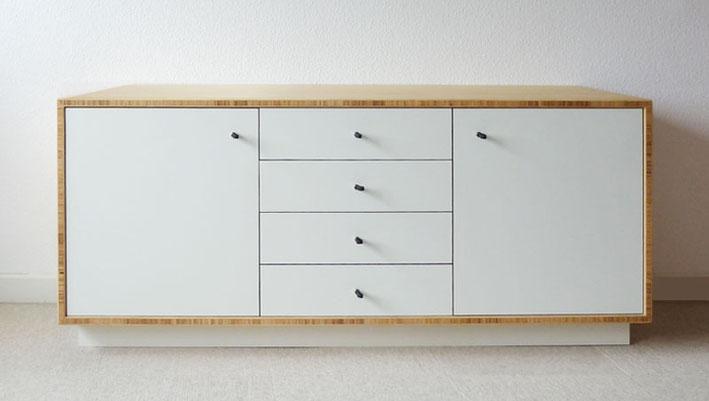 Sideboard aus Bambus + HPL Front