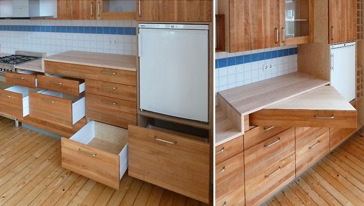 Küchenblock aus Ahorn / Kirschbaum / Birke / Multiplex