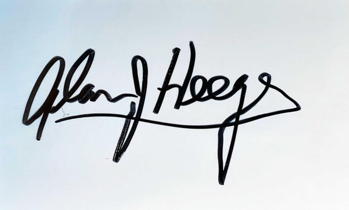 Autograph Alan Heeger Autogramm