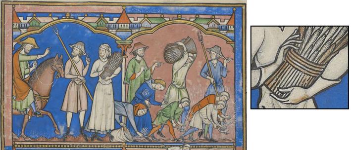 Fig. 1 - Bible Maciejowski, vers 1250, Paris, New York, Pierpoint Morgan Library, Ms. Lat M638, f. 17v.