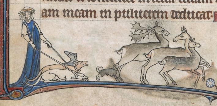 Fig. 4 - Psautier d'Alphonse, 1284-1316, f. 13v. (British Library)