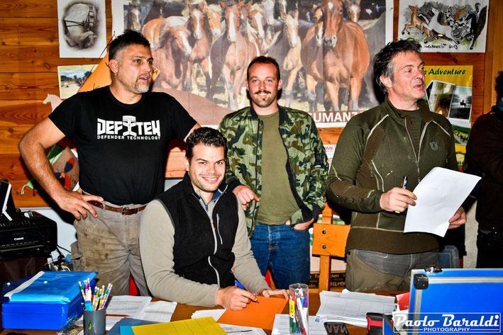 Da sinistra: Ferdinando Bartolucci, Andrea Bartolomucci, Davide Paoli e Nicola Bianchi