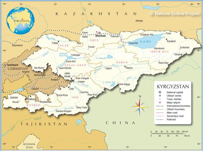 #map kyrgyzstan