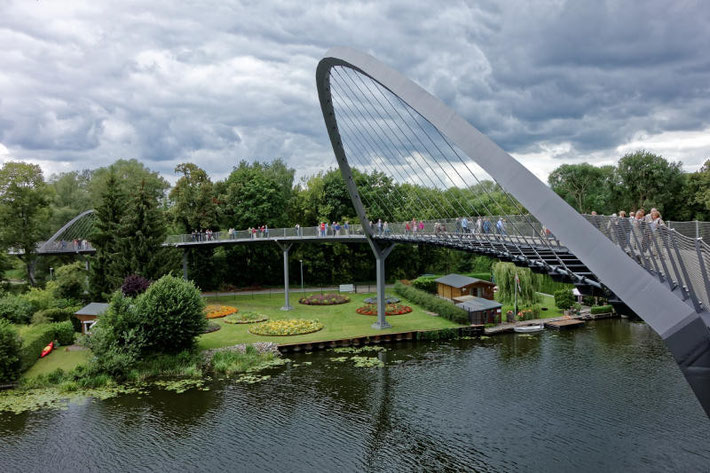 Die neue Fußgängerbrücke in Rathenow