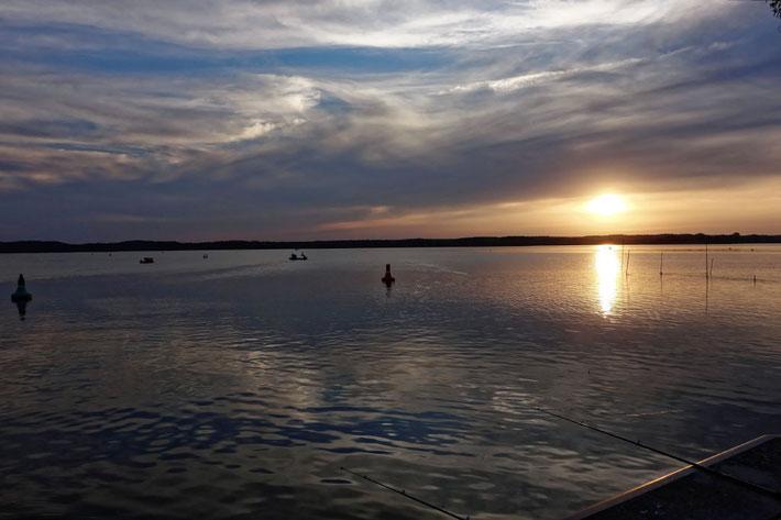 Sonnenuntergang am Hafen von Neustrelitz