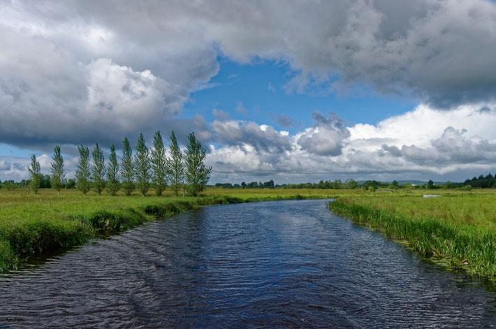 Mit dem Hausboot auf dem Camlin River in Irland