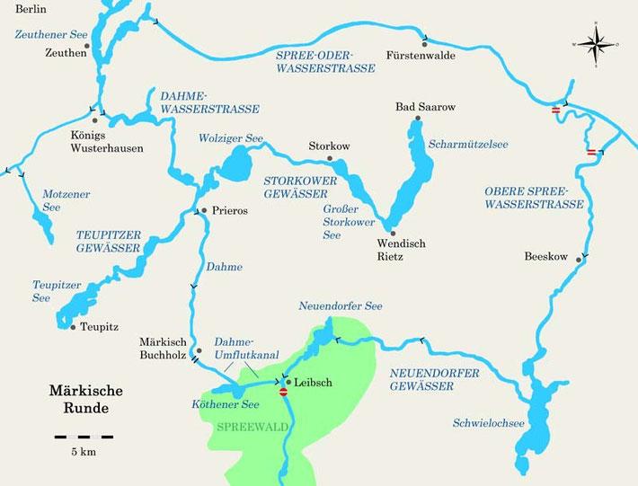 Märkische Runde mit Dahme-Umflutkanal