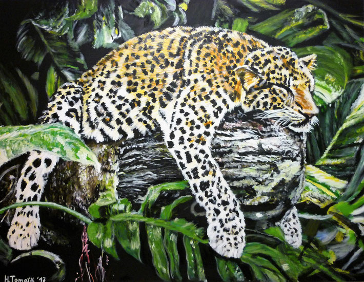 Sleeping Leopard, 130x100cm, oil on canvas