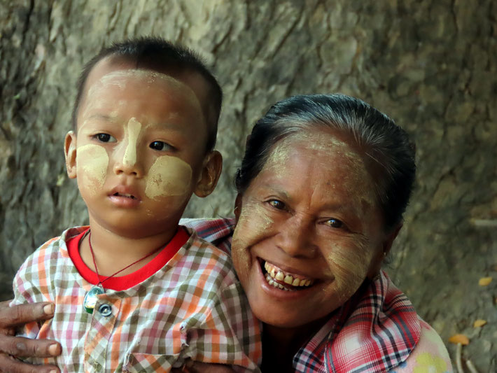 freundliche Bewohner von A Myint
