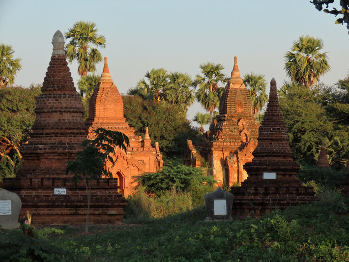 Pagodengruppe in Bagan