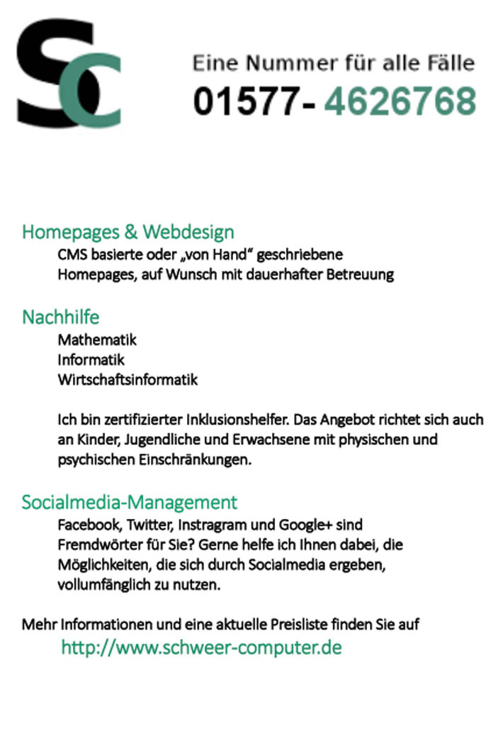 Manuel Schweer - art-en-reich Webseite!