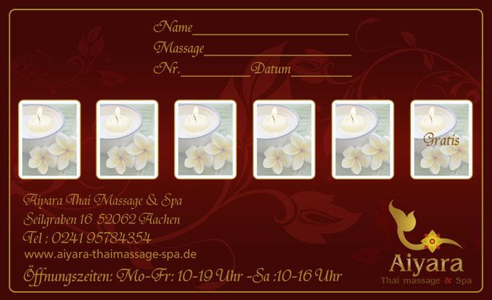 Our Member Card 5 Massages Pay, Get 1 Free Aiyara Thai Massage Spa-9925