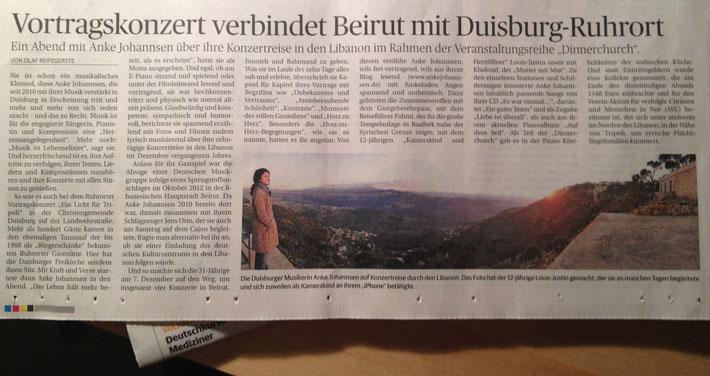 Artikel in der Rheinischen Post vom 5.2.2013