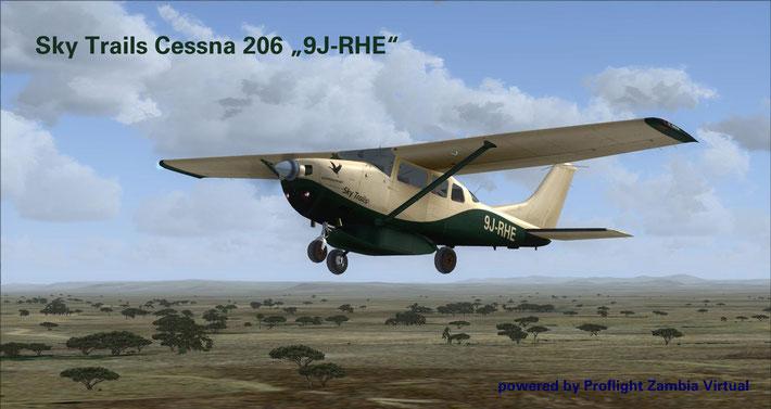 """Sky Trail C206 """"9J-RHE"""""""