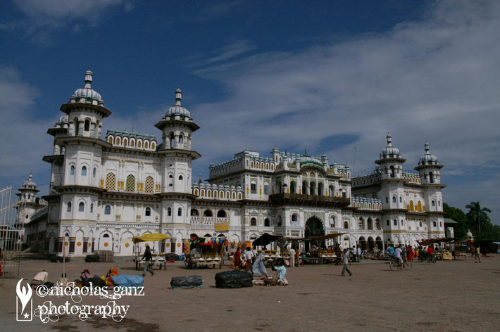 The Hindu Janaki Mandir temple in Janakpur.