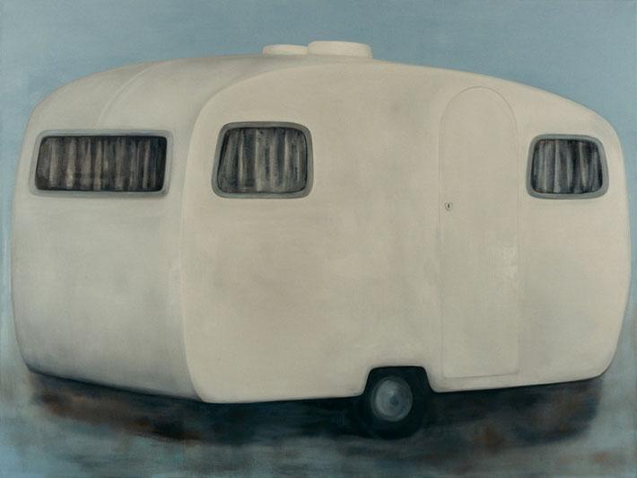z.t.  caravan no.2   olieverf - linnen  180 x 240 cm  2000/2001