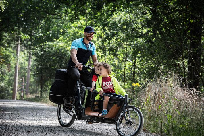 Babboe Slim Mountain Lasten e-Bike, Lastenfahrrad mit Elektromotor, e-Cargobike 2020