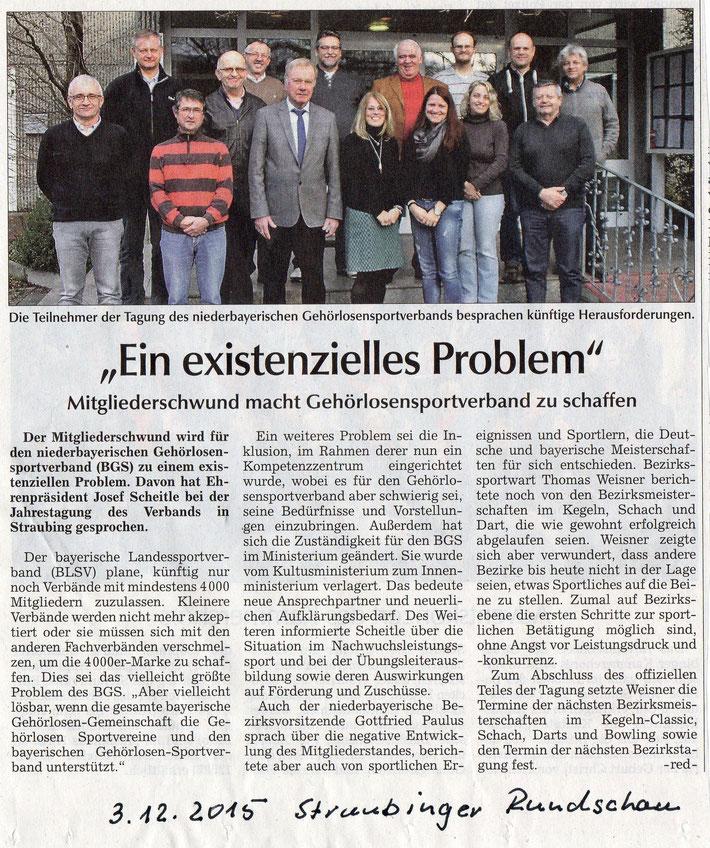 Quelle: Straubinger Rundschau 03.12.2015