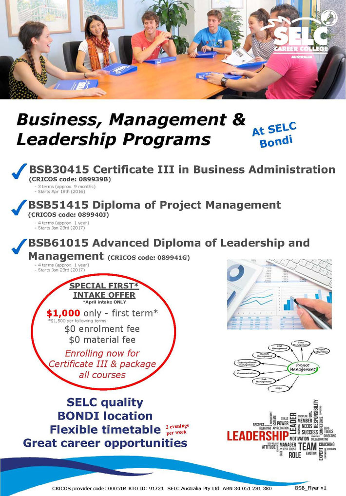 SELC Business Management & Leadership Programs