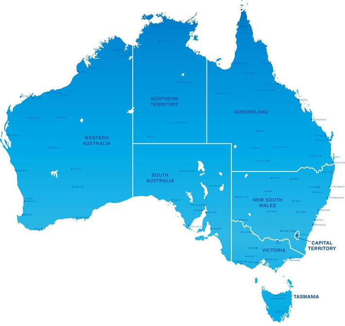 Australia Map - 都市情報