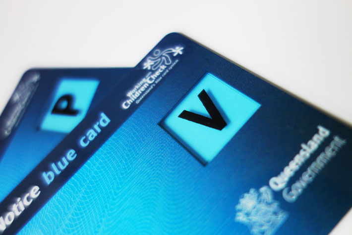 Blue Cards issued by Queensland Government