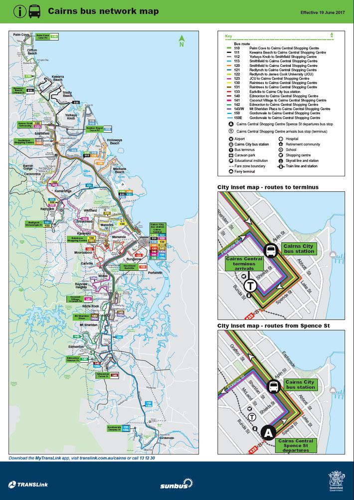 ケアンズバス路線図