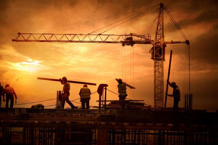 建設現場での仕事