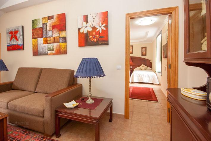 Blick vom Wohnzimmer zum zweiten Schlafzimmer