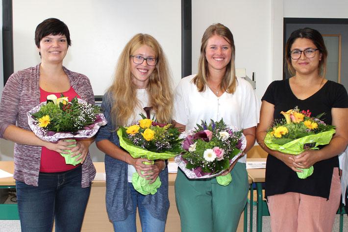 Gehören jatzt dazu: v.l.: Magdalena Kmiecik, Christina Böhm, Viktoria Zuravkina und Barcu Usta.