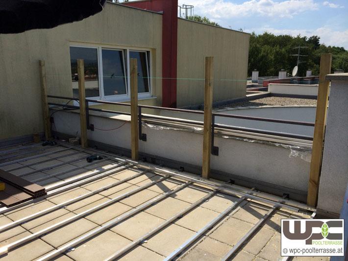 Unterbau Terrasse Alu : Bilder WPC Aluminium Alu Unterkonstruktion f u00fcr