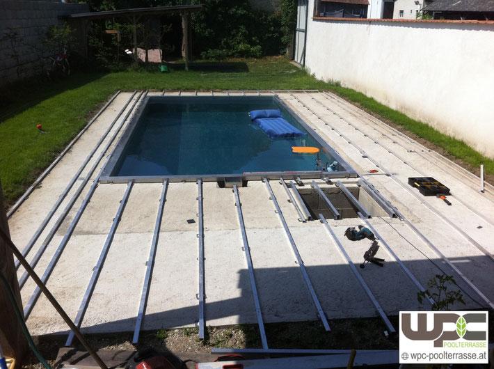 Terrasse Unterkonstruktion Alu : Bilder WPC Aluminium Alu Unterkonstruktion f u00fcr