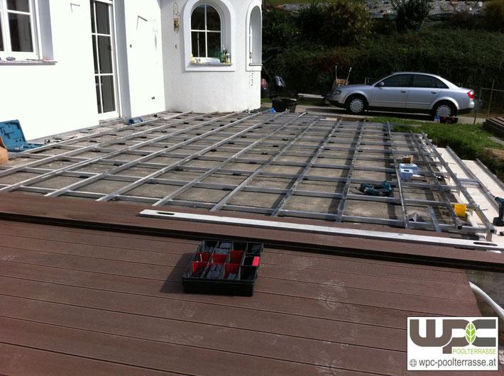 Terrasse Unterkonstruktion : Bilder WPC Aluminium Alu Unterkonstruktion f u00fcr