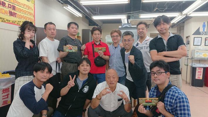 最強戦2018年中国地区代表決定戦出場がちまーメンバー(下段右2が吉野さん、上段左2がずぎくん)