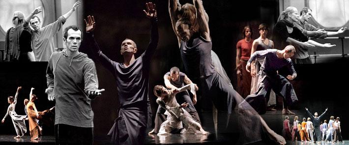 Susanne Linke Ich bin premiere 2005 Opera de Paris Wilfried Romoli photomontage Heidemarie Franz