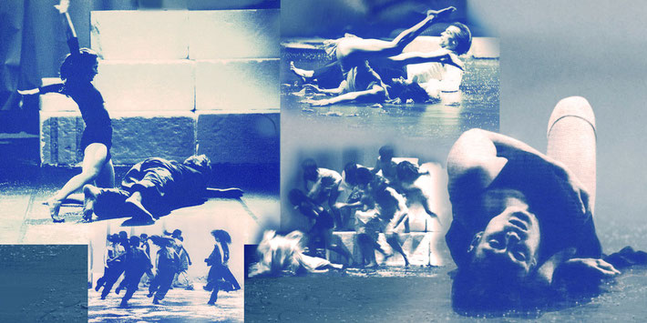 Susanne Linke premiere 1999 Penthesilea Ping photo montage Heidemarie Franz