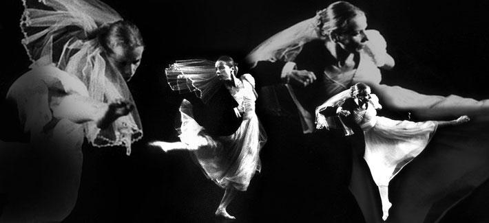 Susanne Linke premiere 1982 Es schwant photo montage Heidemarie Franz