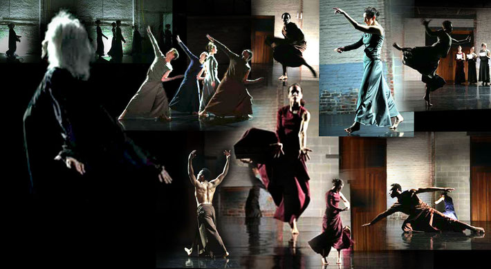 Susanne Linke Quasi normal premiere 2008 Ruddy dance Performance Garage photomontage  HFranz