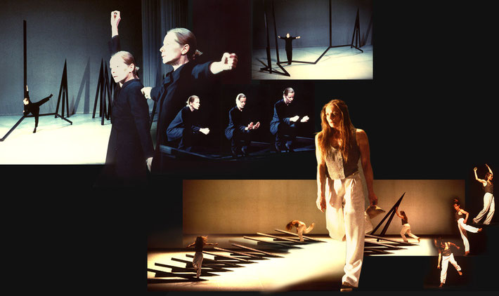 Susanne Linke premiere 1994 Dialog I and II Carte Blanche photomontage Heidemarie Franz