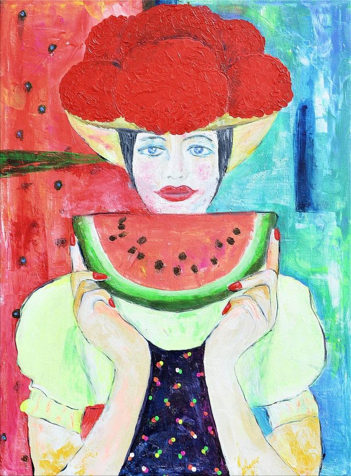 Schwarzwaldmädel mit Melone