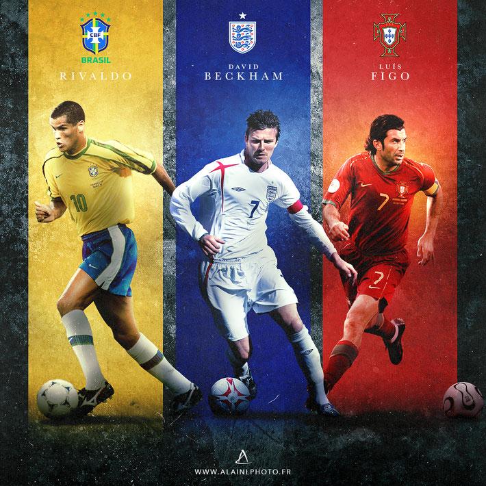 Rivaldo - David Beckham - Luis Figo