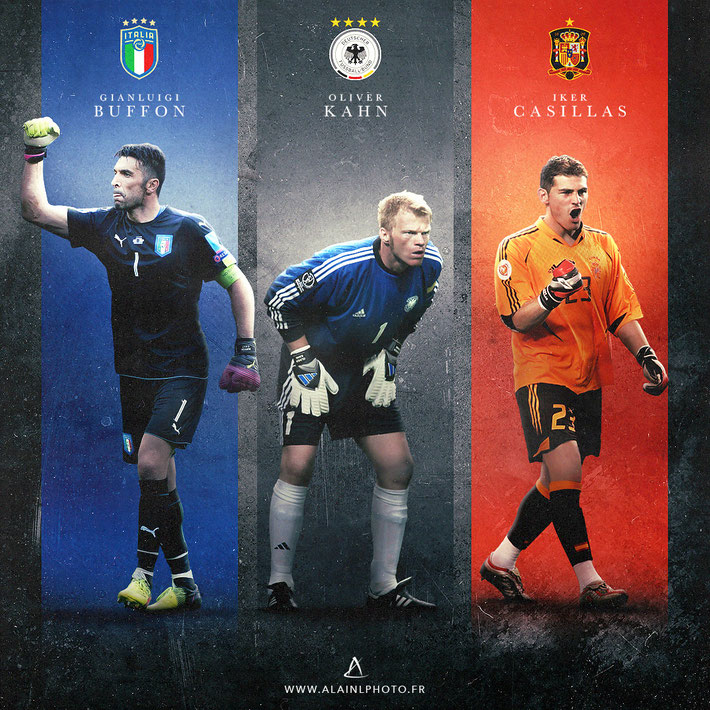 Gianluigi Buffon - Oliver Kahn - Iker Casillas
