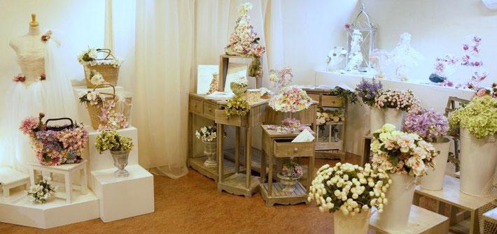 2013年2月「花アクセサリー展」(東京堂)
