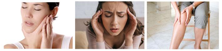 顎関節のこりが原因で頭痛が起きる場合もあります。